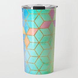 Rainbow Cubes Travel Mug