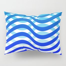 Waving Blue Pattern Pillow Sham