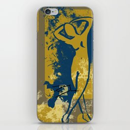 Foot Strokes iPhone Skin
