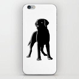 Dog Black Silhouette Pet Animal Cool Style iPhone Skin