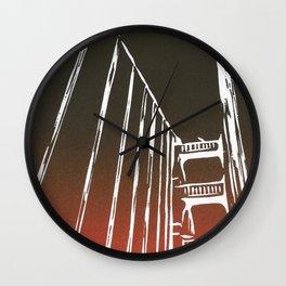 Golden Gate Bridge - Woodcut Wall Clock