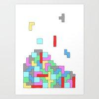 tetris Art Prints featuring Tetris by #dancingpenguin