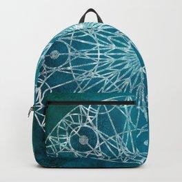 Rosette Window - Teal Backpack