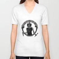 daryl dixon V-neck T-shirts featuring Daryl Dixon by Blanca Limón
