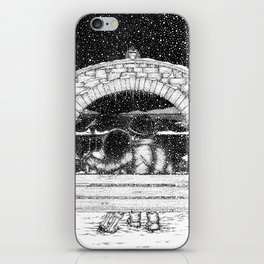 Snowfall in the Park iPhone Skin