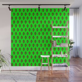 Hops Lime Pattern Wall Mural