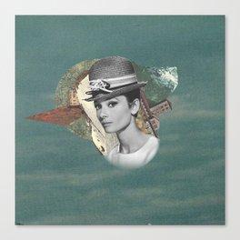 Audrey Meets The Wild Canvas Print