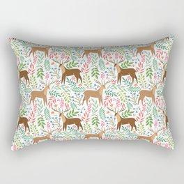 Deer pattern white Rectangular Pillow