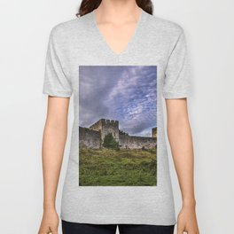 Chepstow Castle Walls Unisex V-Neck