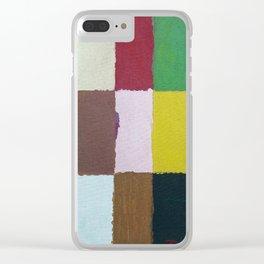 Rectangulos de color Clear iPhone Case
