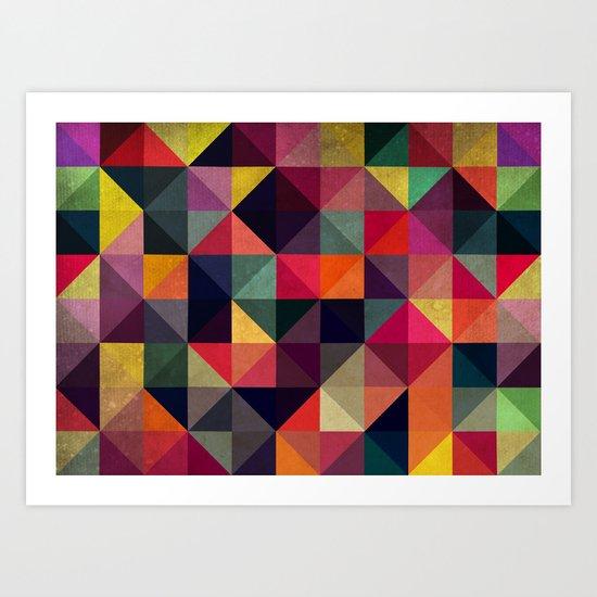 Colors Pattern Art Print