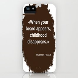 Beard Collection - Childhood iPhone Case