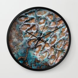 Turquoise peace Wall Clock