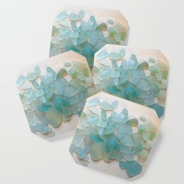 Ocean Hue Sea Glass Coaster