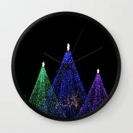 three light trees Wall Clock