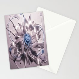 Space Flower- 3D Mixed Media Collage Stationery Cards