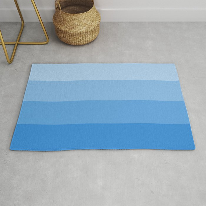 Four Shades Of Light Blue Rug By