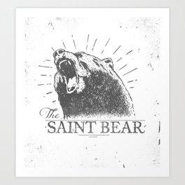 The Saint Bear Art Print