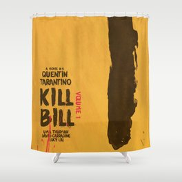 Kill Bill, Quentin Tarantino, minimal movie poster,  Uma Thurman, Lucy Liu, alternative film Shower Curtain