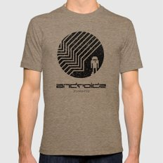 Android LARGE Mens Fitted Tee Tri-Coffee