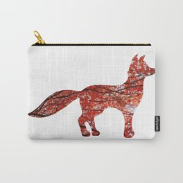 red maple standing fox silhouette Carry-All Pouch