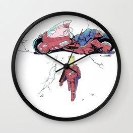 Red Motorcylce Poster Wall Clock