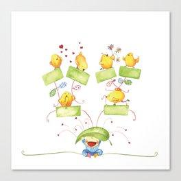 Baby family tree Canvas Print