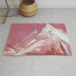 Canvas Peaks Sunset - an abstract, textured artwork by Jacob von Sternberg Rug