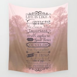 Life is Like a Camera Wall Tapestry