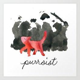 Purrsist Art Print