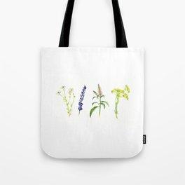 Tea Flowers Tote Bag