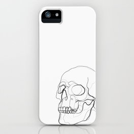Skull Line Drawing iPhone Case