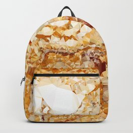 Italian Marble Low Poly Geometric Triangles Backpack