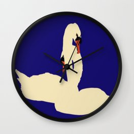 Swans Entwined Wall Clock