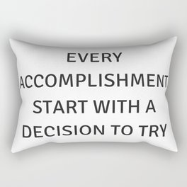 Motivational Quotes Rectangular Pillow