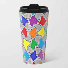 Glowing Dabs of a Rainbow  Travel Mug