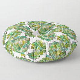 Rosette Succulents – Green Palette Floor Pillow