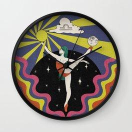 Pisces Illustration Wall Clock