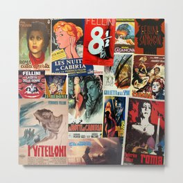 Federico Fellini Montage 1 Metal Print