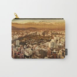 Santiago de Chile Aerial View from San Cristobal Hill Carry-All Pouch