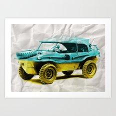 2 tone Schwimmwagen Duck Art Print