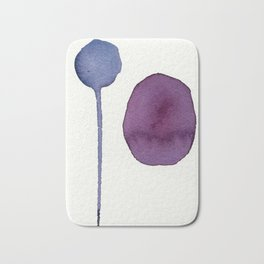 Ultra Violet Shapes Abstract Painting Bath Mat