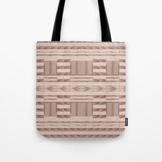 Beige Windows Abstract Tote Bag