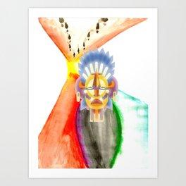 Mr. Moon Head Art Print