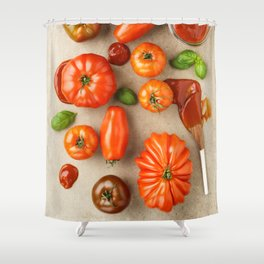 Tomatoes for tomato ketchup Shower Curtain