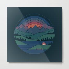 The Lake At Twilight Metal Print