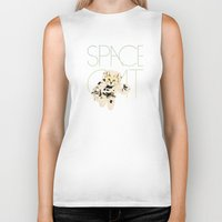 space cat Biker Tanks featuring Space Cat by Koning