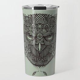 Warrior Owl Face Travel Mug