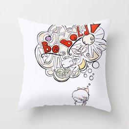 Be Bold! Throw Pillow