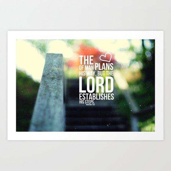 The Lord establishes his steps  Art Print